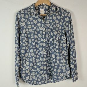 Gap   The fitted boyfriend tropical animal shirt S